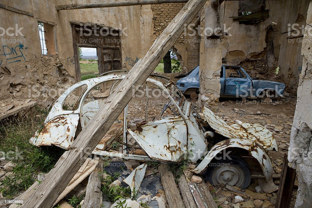 Abandoned old cars royalty-free stock photo