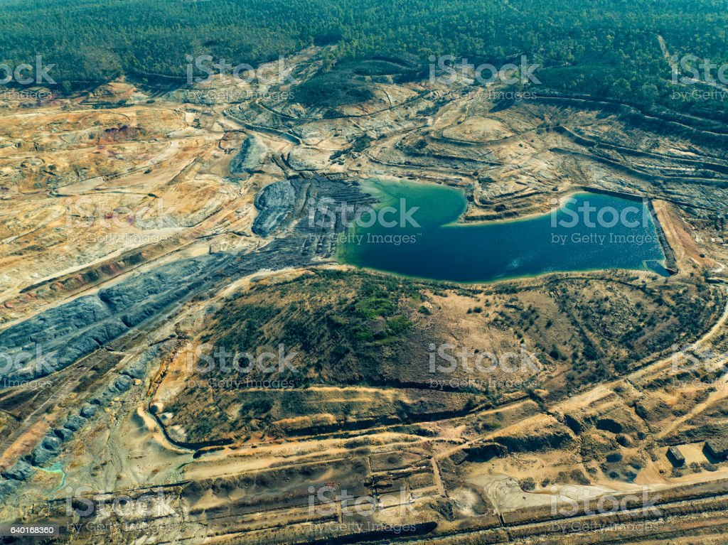 Abandoned Old Copper Extraction Sao Domingos Mine stock photo