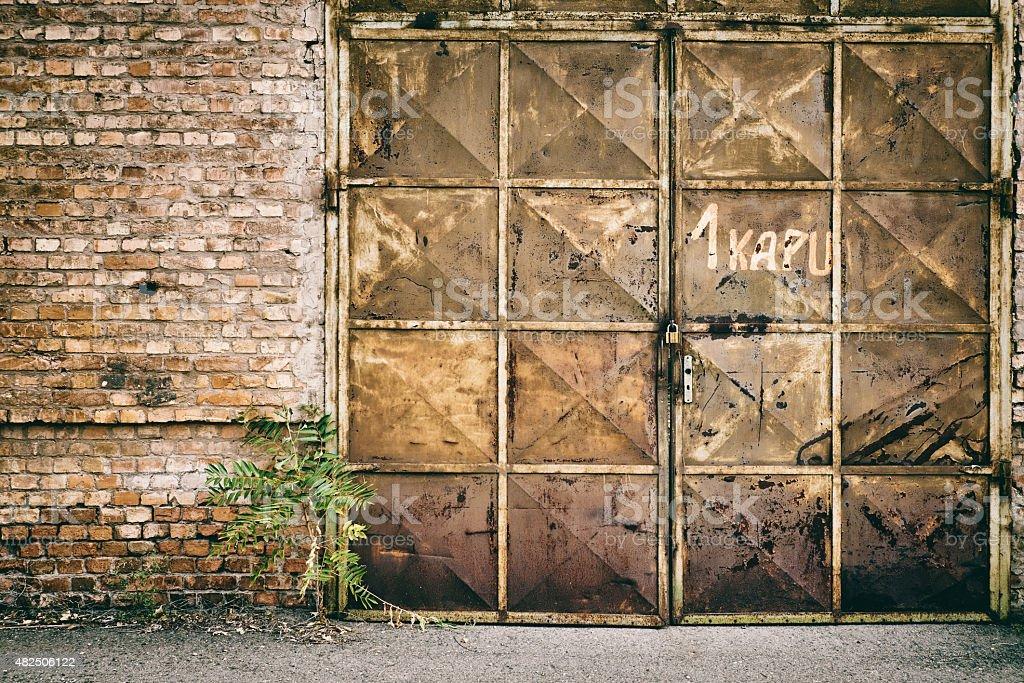 Abandoned old entrance stock photo
