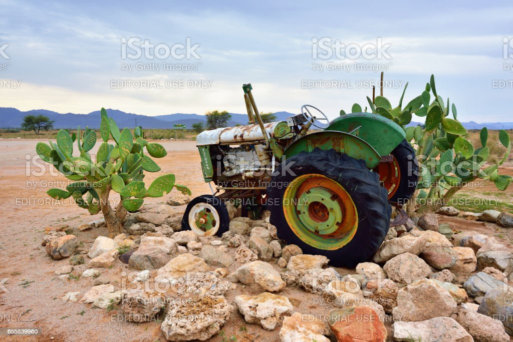 Abandoned old Fordson tractor stock photo