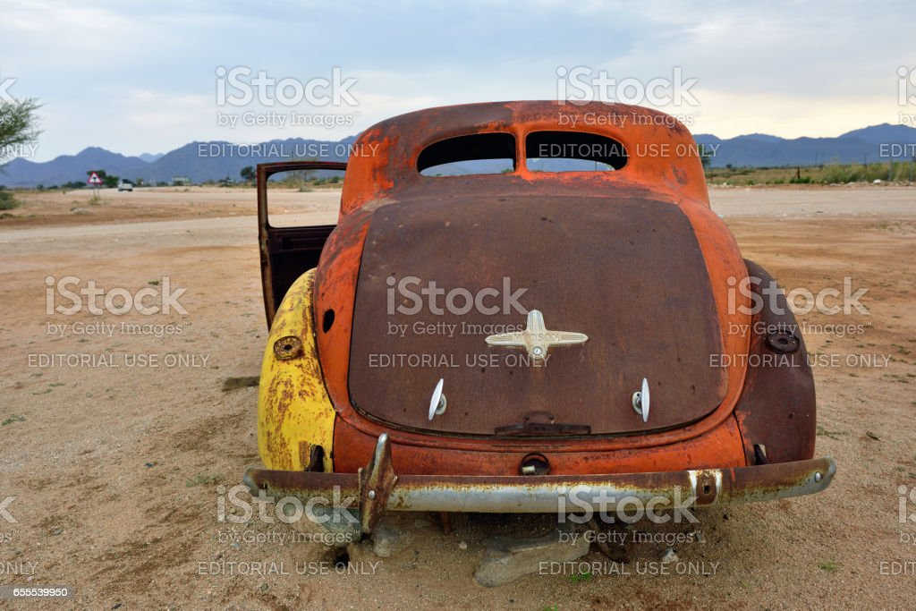Abandoned old Hudson car stock photo