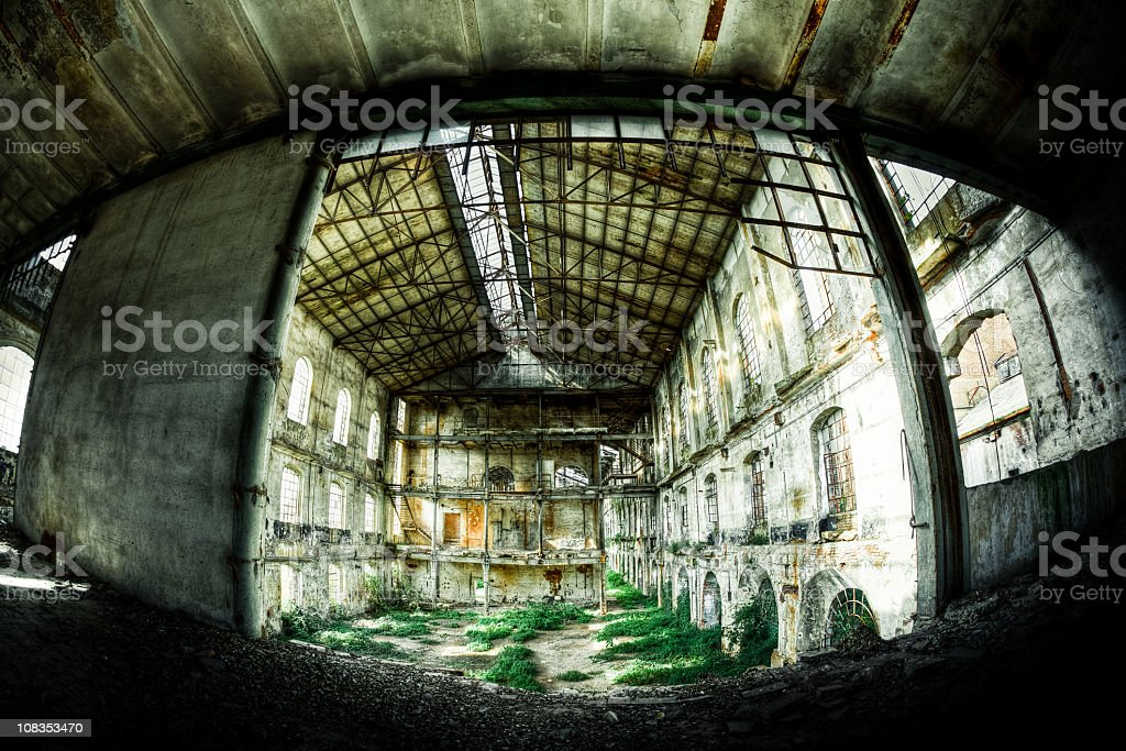 Abandoned Old Ruined Factory Nobody royalty-free stock photo