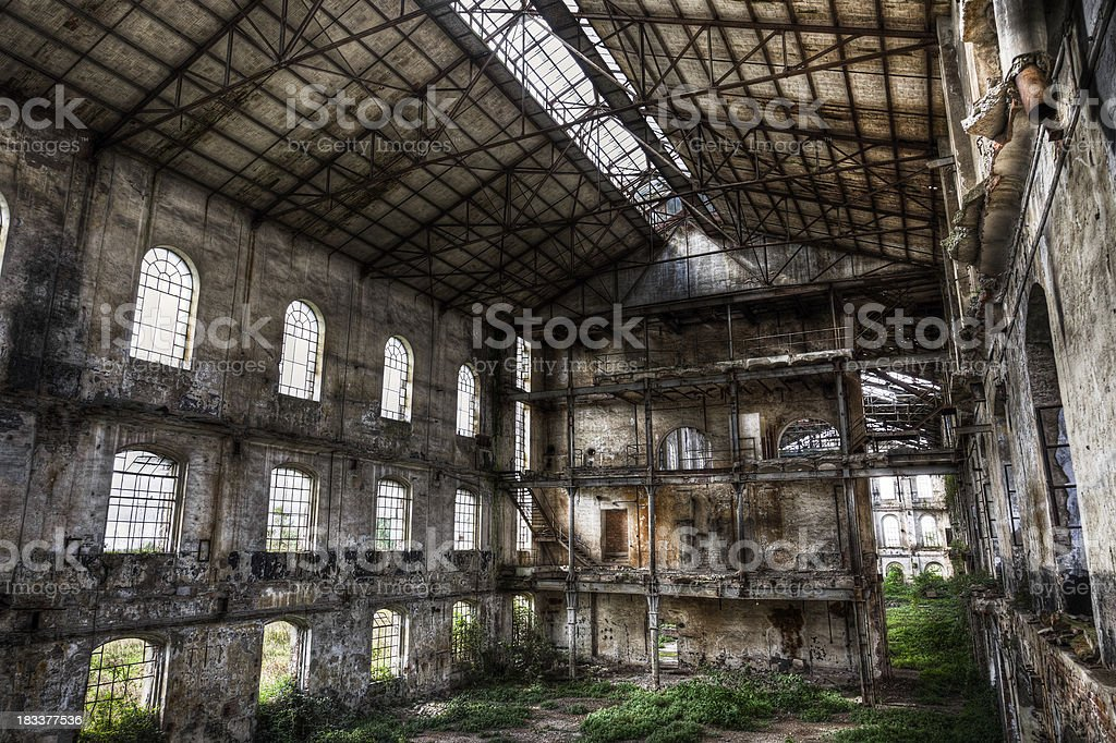 Abandoned Old Ruined Factory Urban Exploration royalty-free stock photo