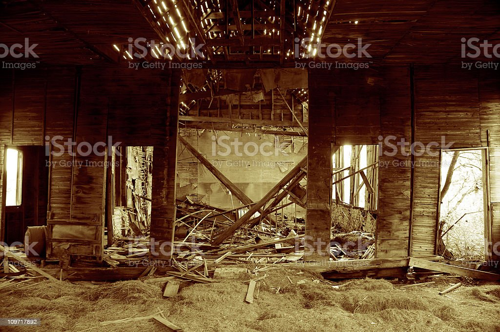 Abandoned Old School House 2 royalty-free stock photo