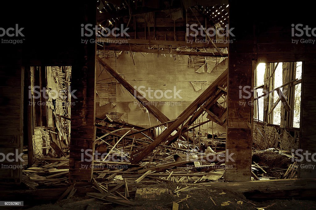 Abandoned Old School House 3 royalty-free stock photo
