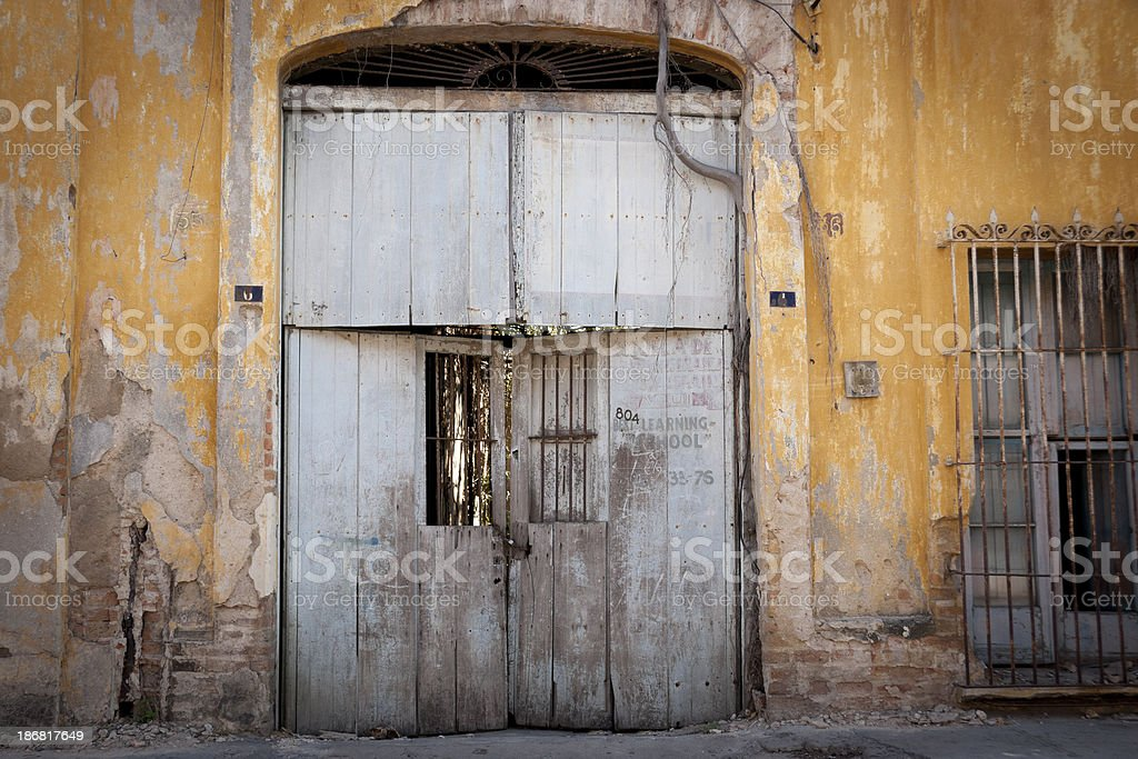 Abandoned Old School in Mazatlan, Mexico royalty-free stock photo