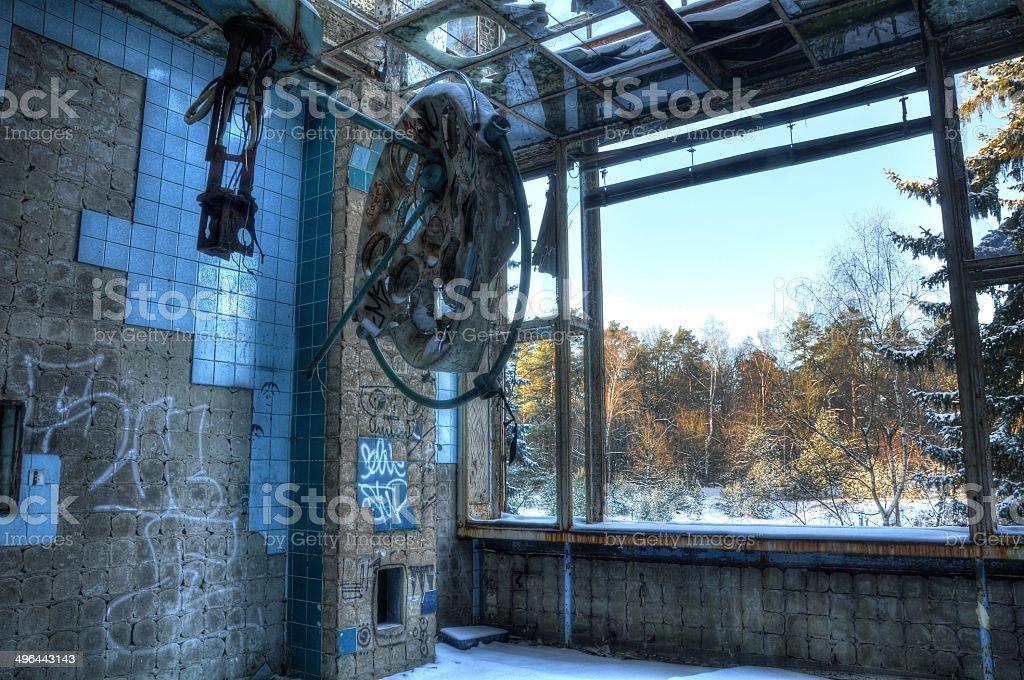 Abandoned operating room in Beelitz royalty-free stock photo