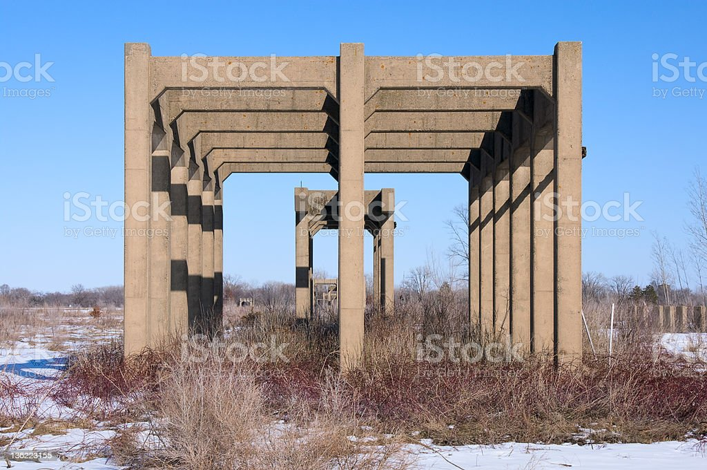 Abandoned Ordnance Manufacturing Facilities stock photo