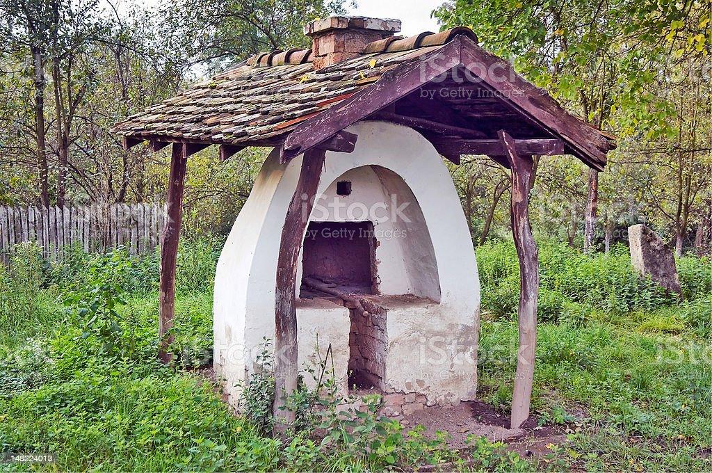 Abandoned oven stock photo