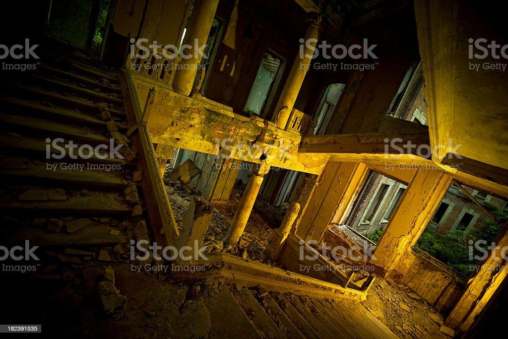 Abandoned palace indoor royalty-free stock photo