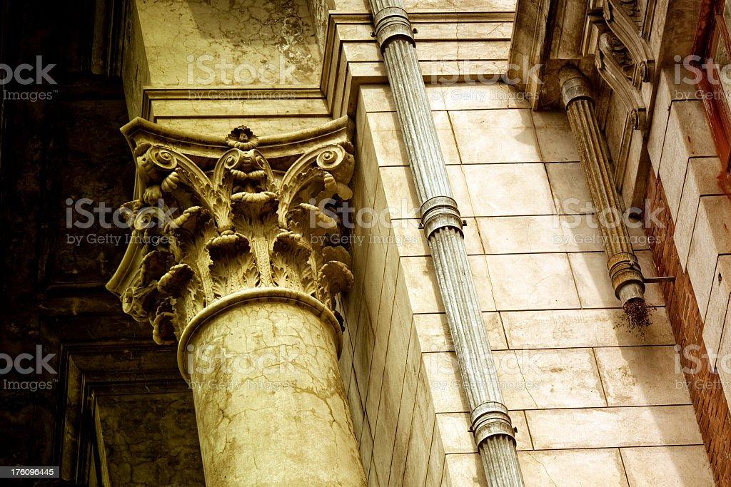 Abandoned palace with corinthian column royalty-free stock photo