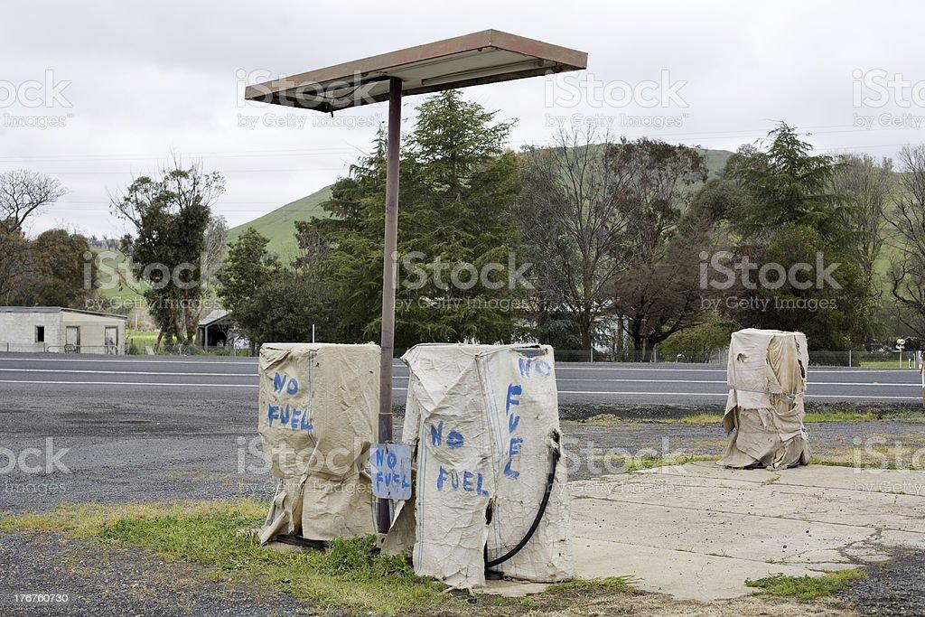 Abandoned Petrol Station stock photo