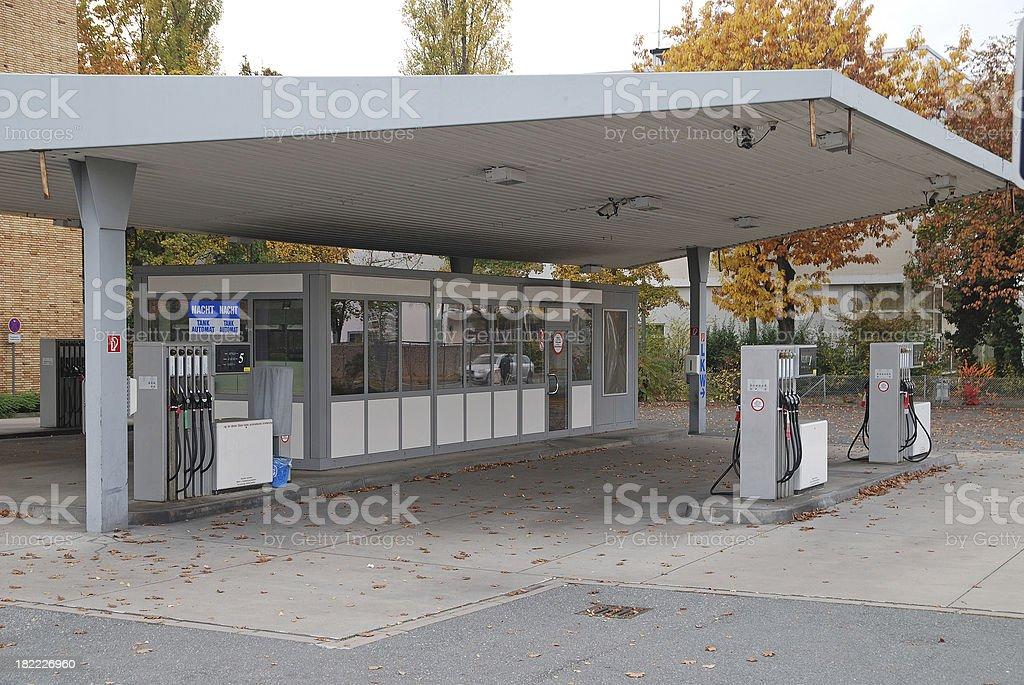 abandoned petrol-station - alte Tankstelle royalty-free stock photo