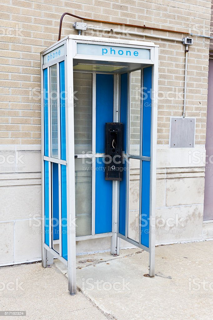 Abandoned Phone Booth II stock photo