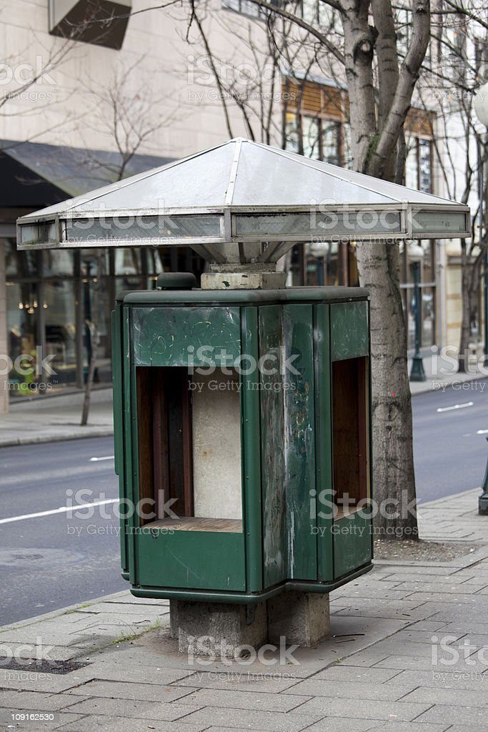 Abandoned Phone Booth stock photo