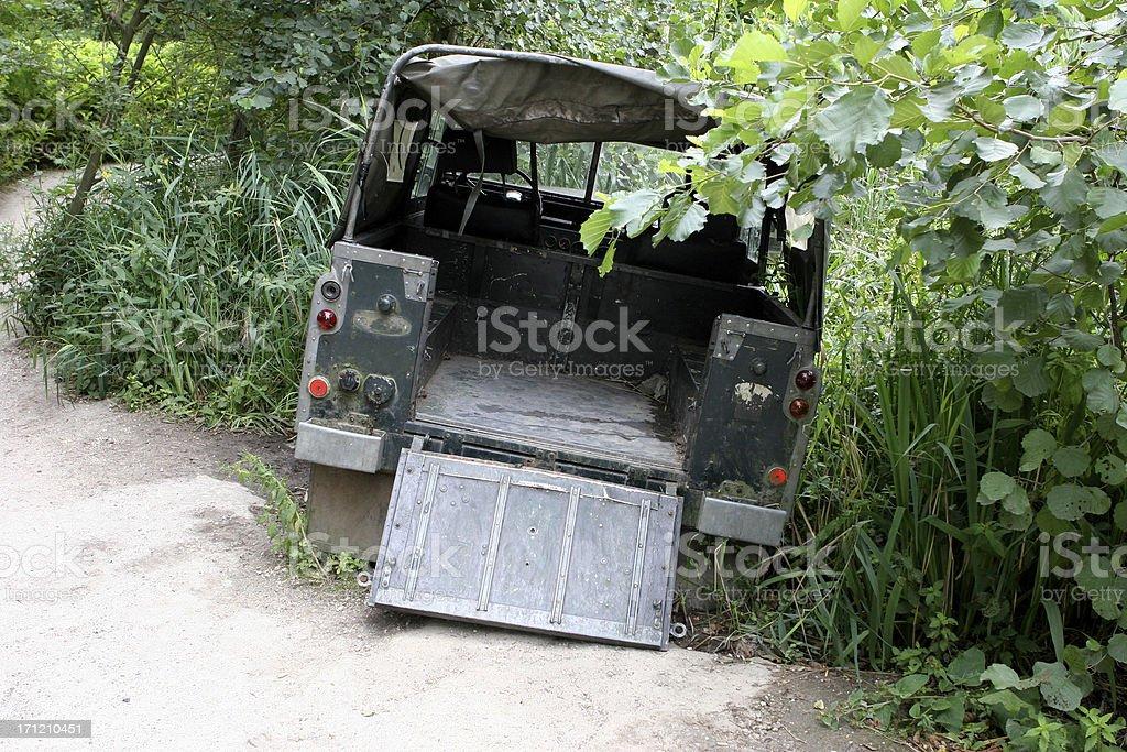 Abandoned pickup wreck royalty-free stock photo