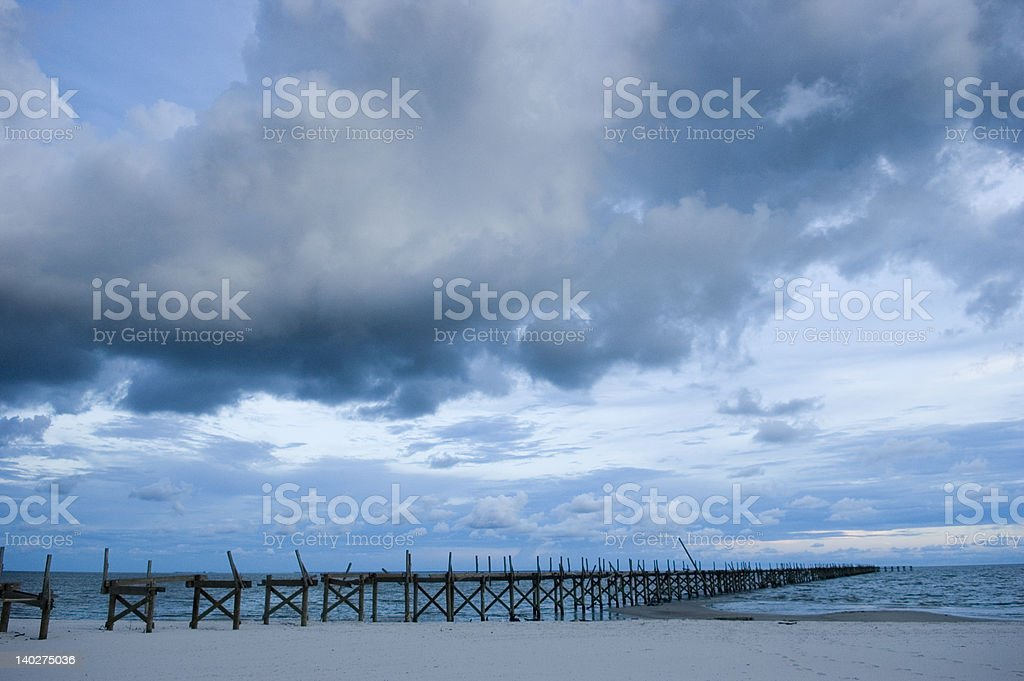 abandoned pier stock photo