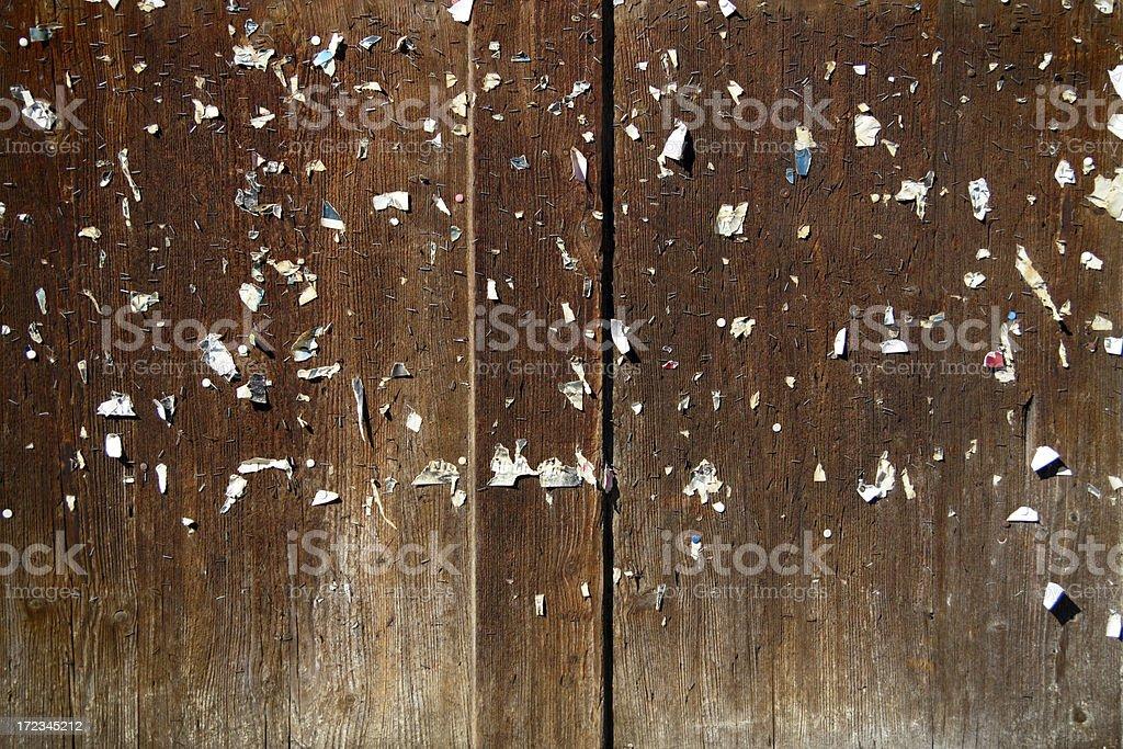 Abandoned Pinboard royalty-free stock photo