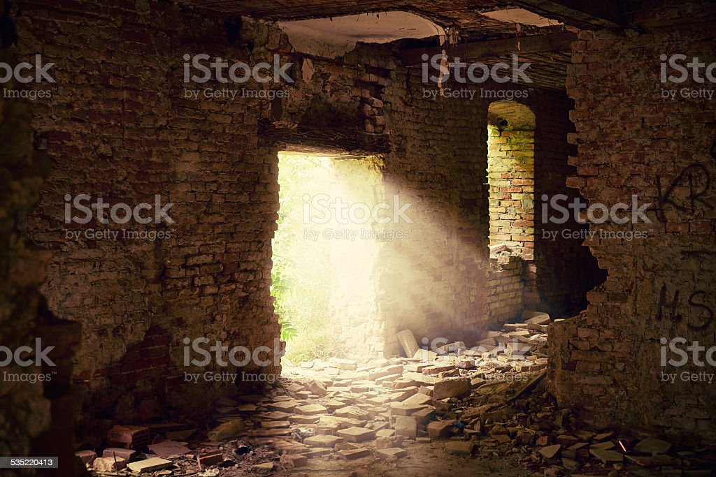 Abandoned place stock photo