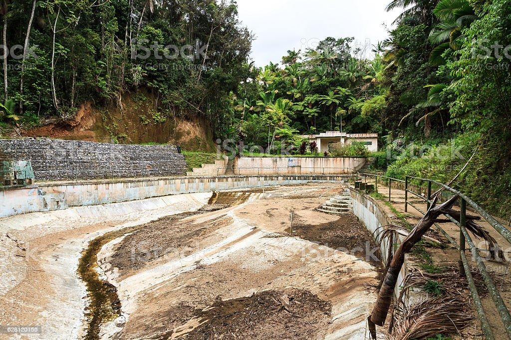 Abandoned pool stock photo