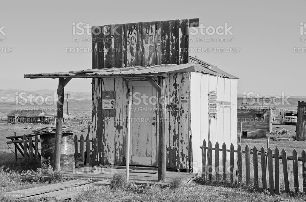 Abandoned Post Office in Cisco, Utah stock photo