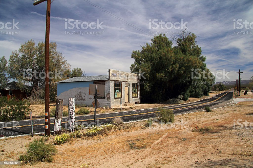 Abandoned Post Office stock photo