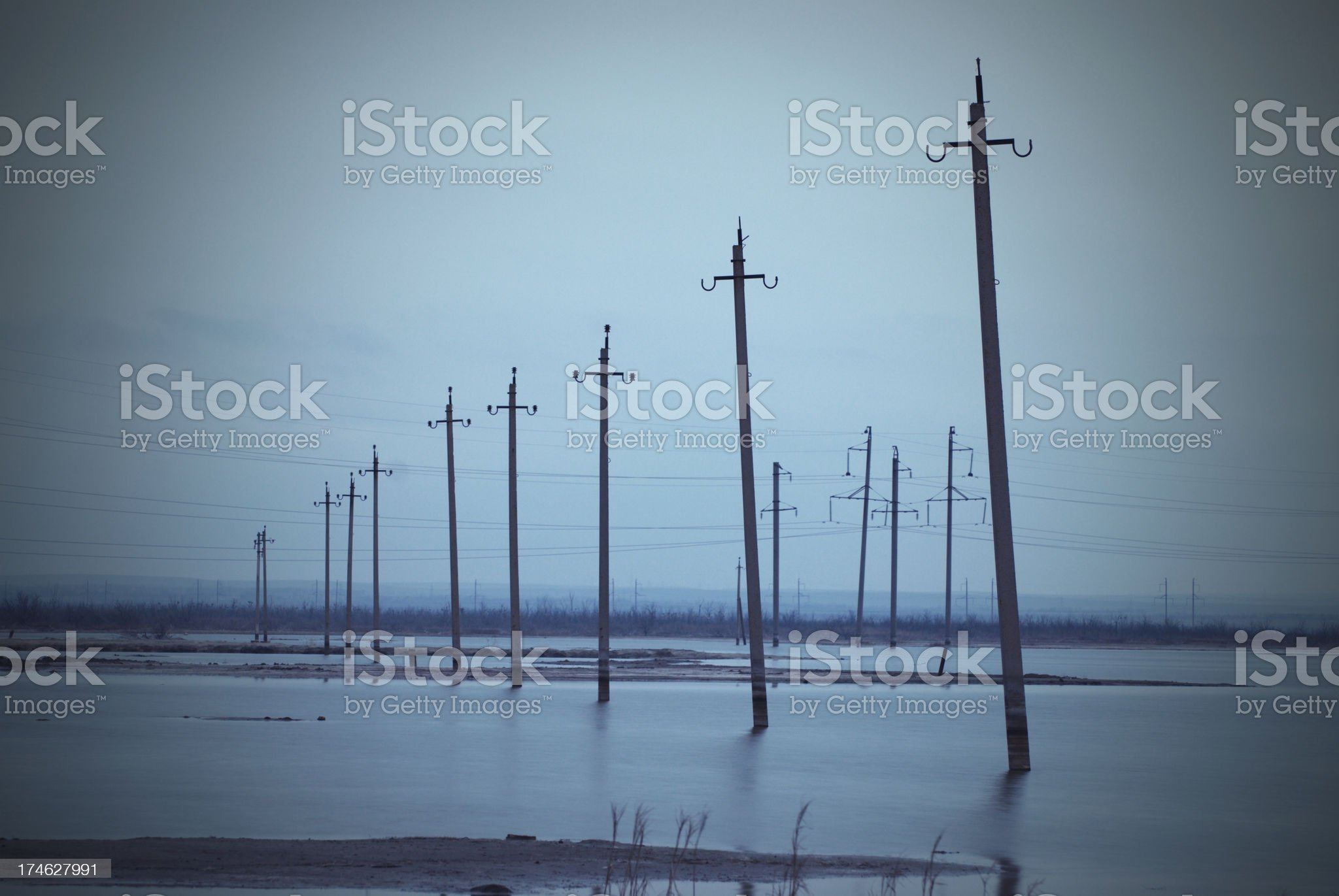 abandoned power line royalty-free stock photo