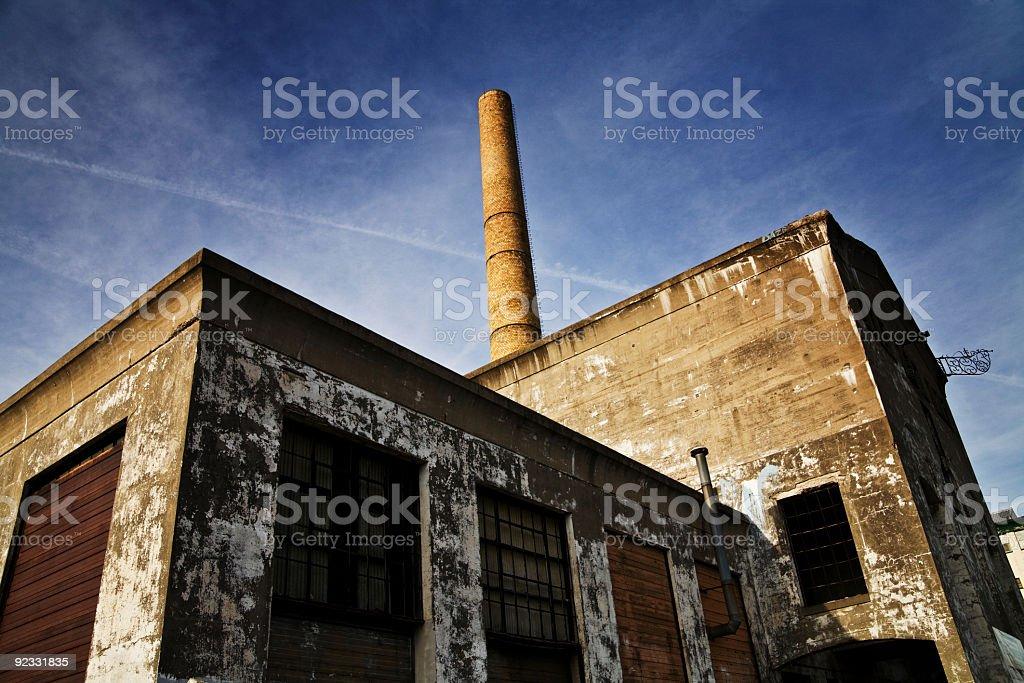 abandoned power plant royalty-free stock photo