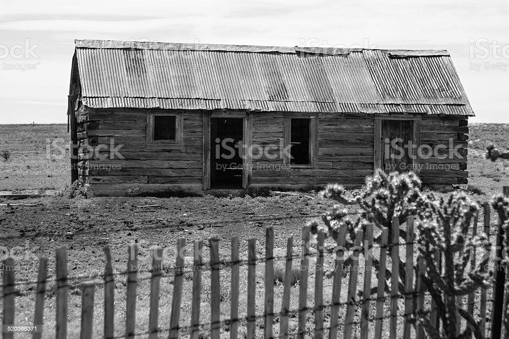 Abandoned Prairie Home stock photo