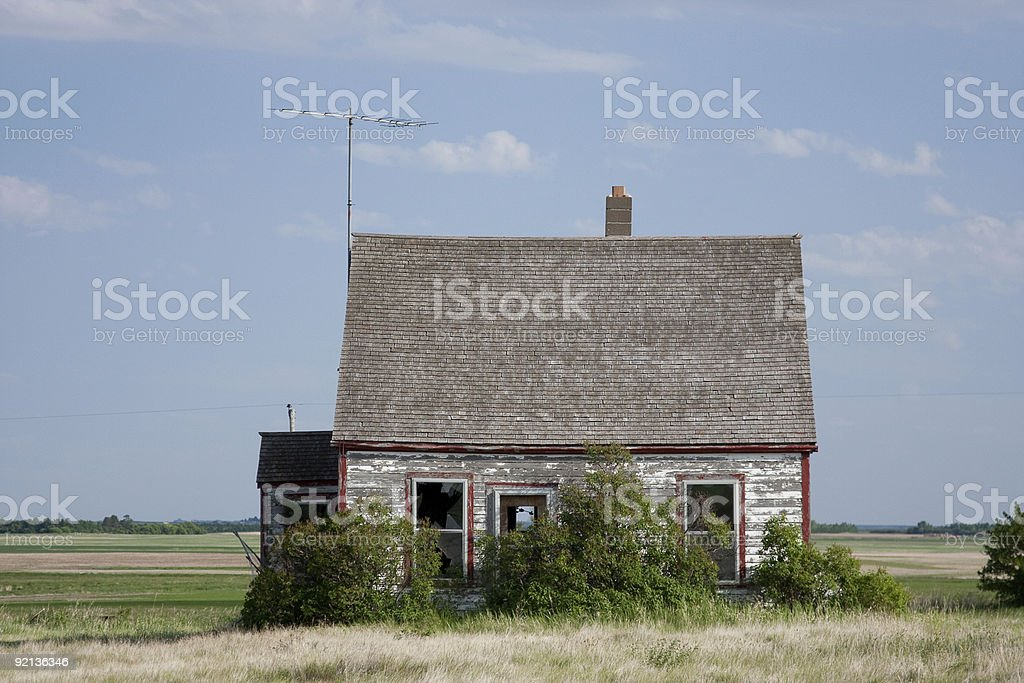 Abandoned Prairie Home royalty-free stock photo