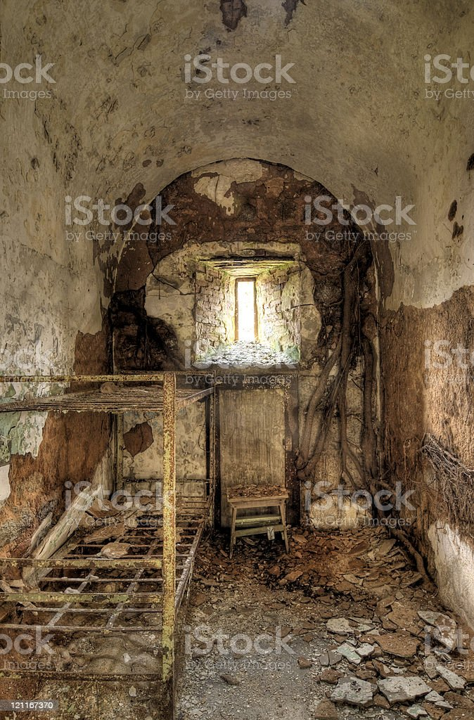 Abandoned Prison cell royalty-free stock photo