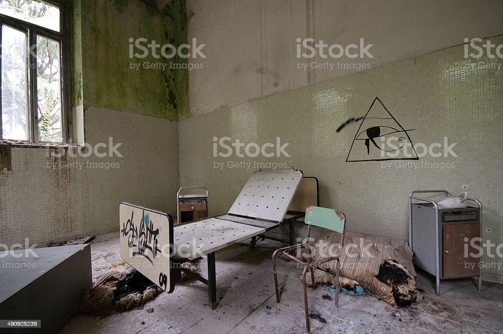 Abandoned Psychiatric Hospital royalty-free stock photo