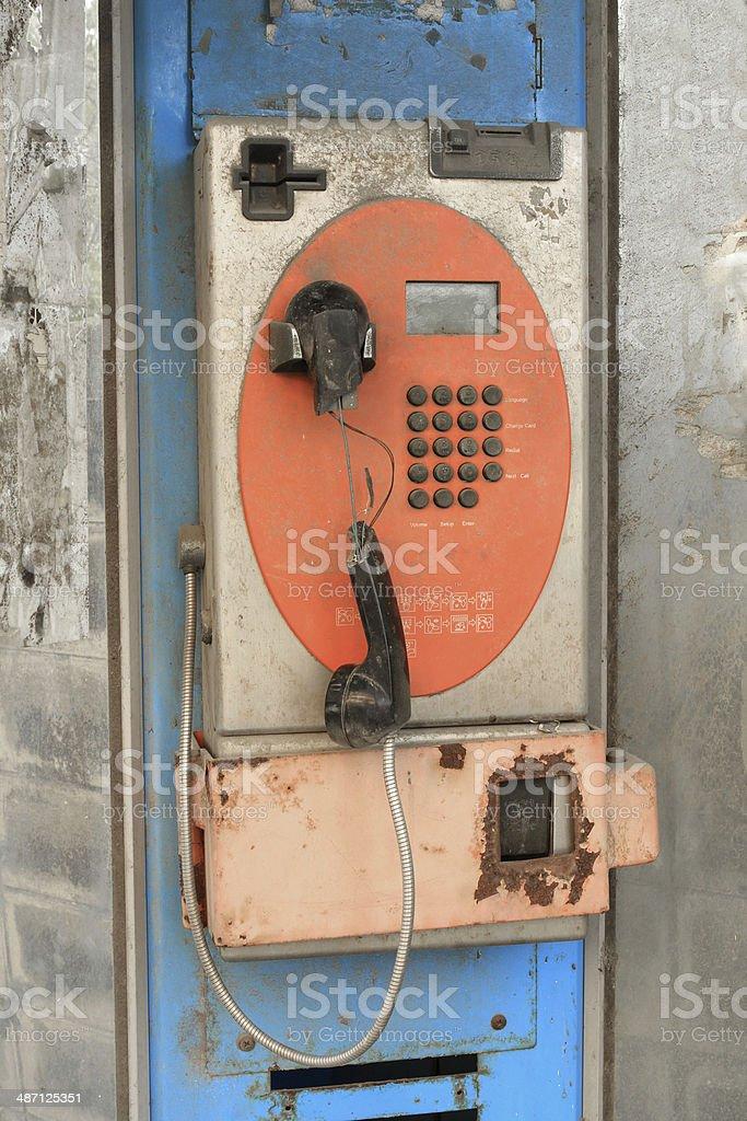 Abandoned public telephone royalty-free stock photo