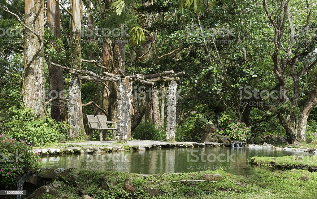 Abandoned quiet park stock photo