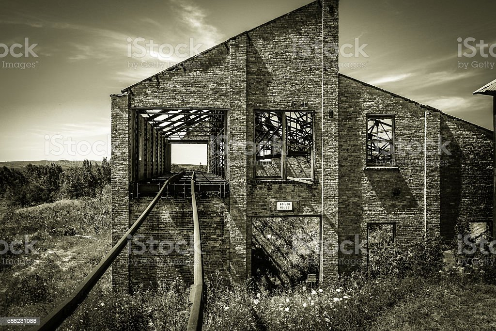 Abandoned Quincy Mine In Michigan stock photo