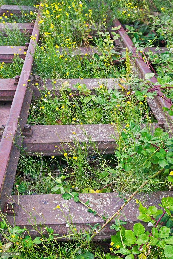 Abandoned Railroad Track stock photo
