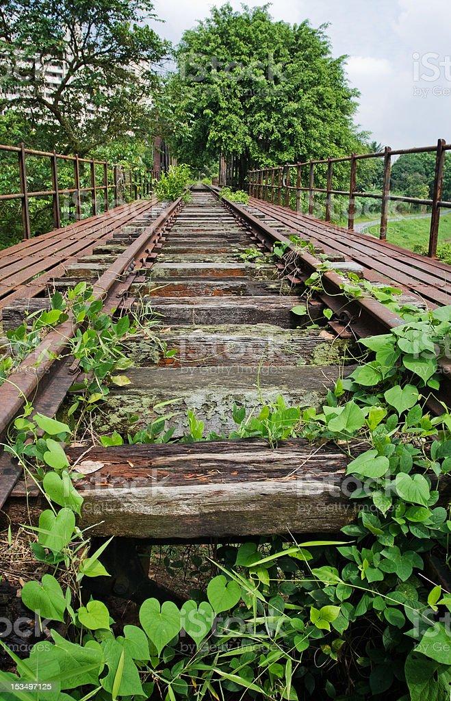 Abandoned railway track stock photo