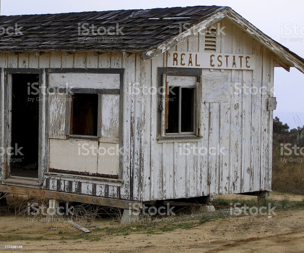 Abandoned Real Estate Office royalty-free stock photo