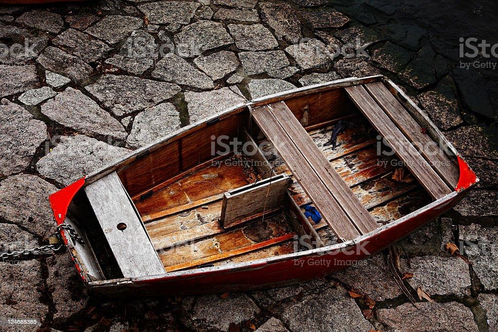 Abandoned Recreational Boat royalty-free stock photo
