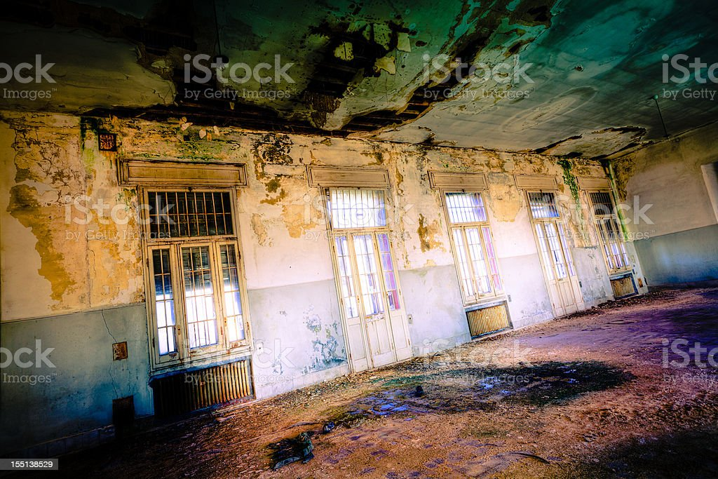 Abandoned room HDR royalty-free stock photo