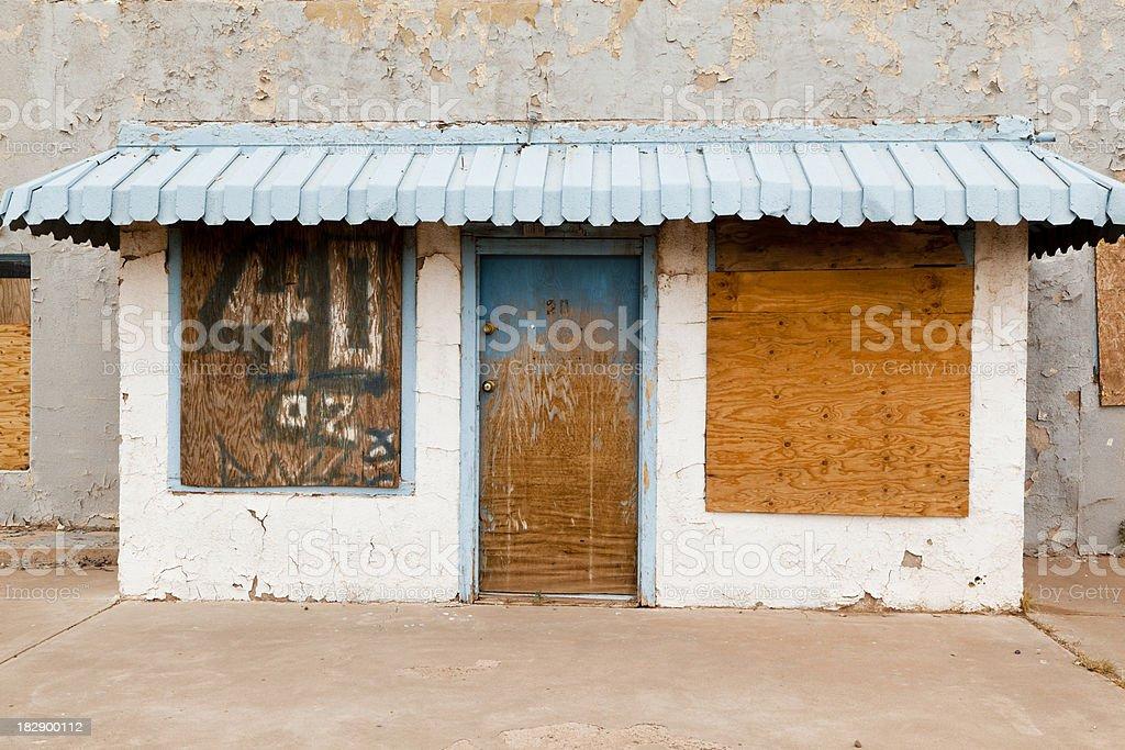 Abandoned Route 66 Motel royalty-free stock photo