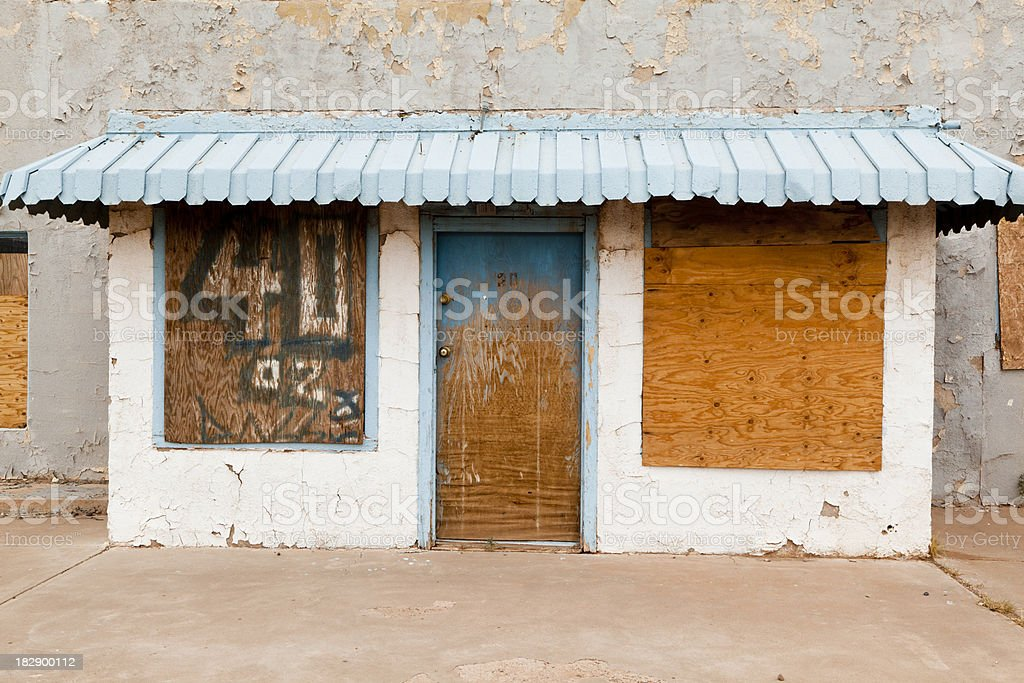 Abandoned Route 66 Motel stock photo