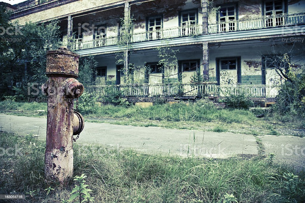 Abandoned Ruined Building royalty-free stock photo