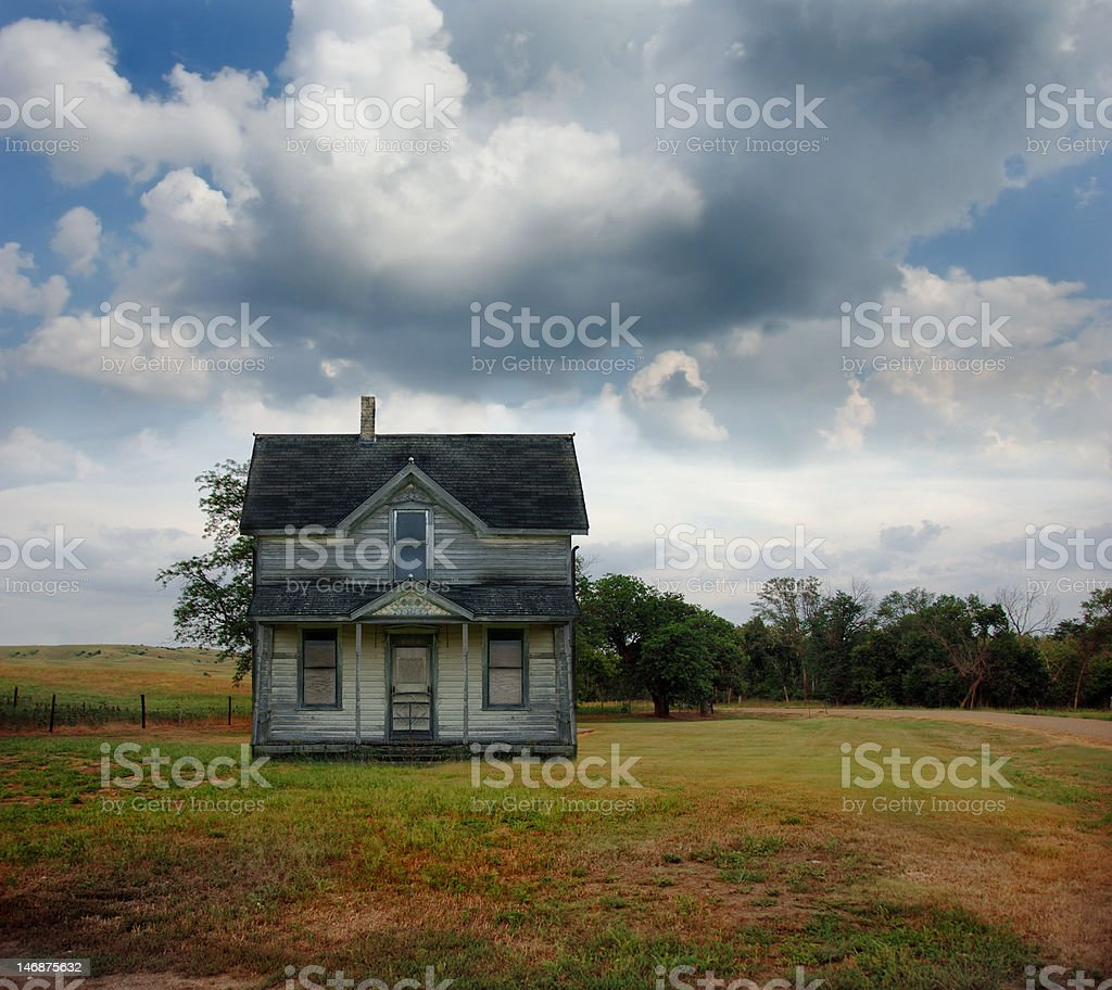 Abandoned Rural Farmhouse stock photo