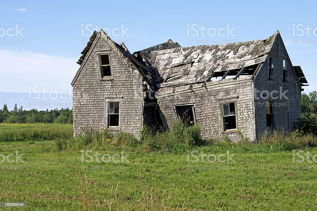 Abandoned Rural House stock photo