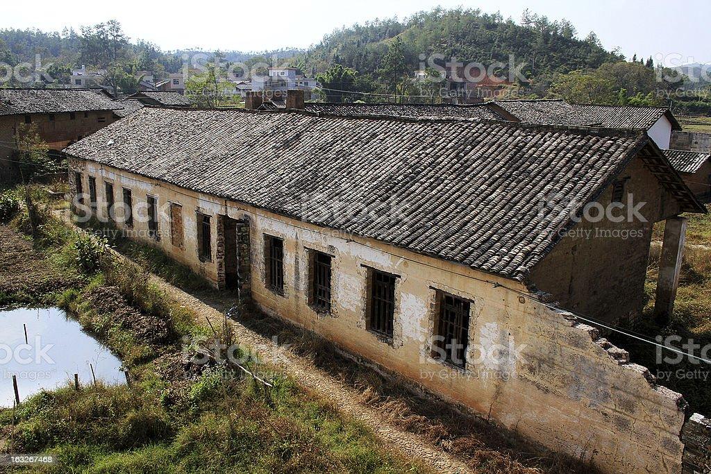 Abbandonato case rurali, Cina foto stock royalty-free