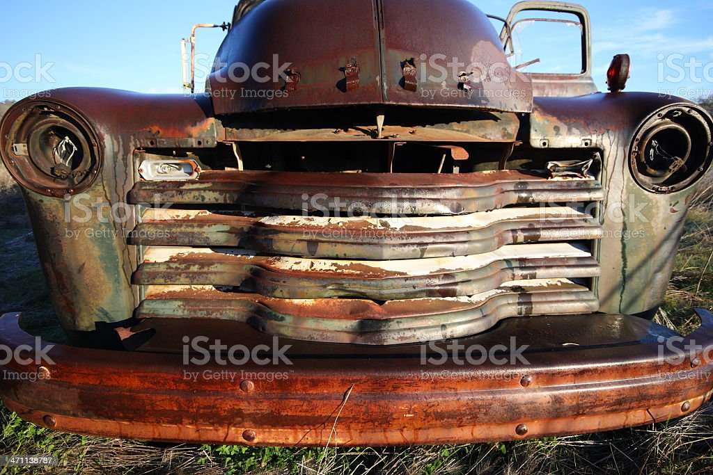 Abandoned Rusty Truck royalty-free stock photo