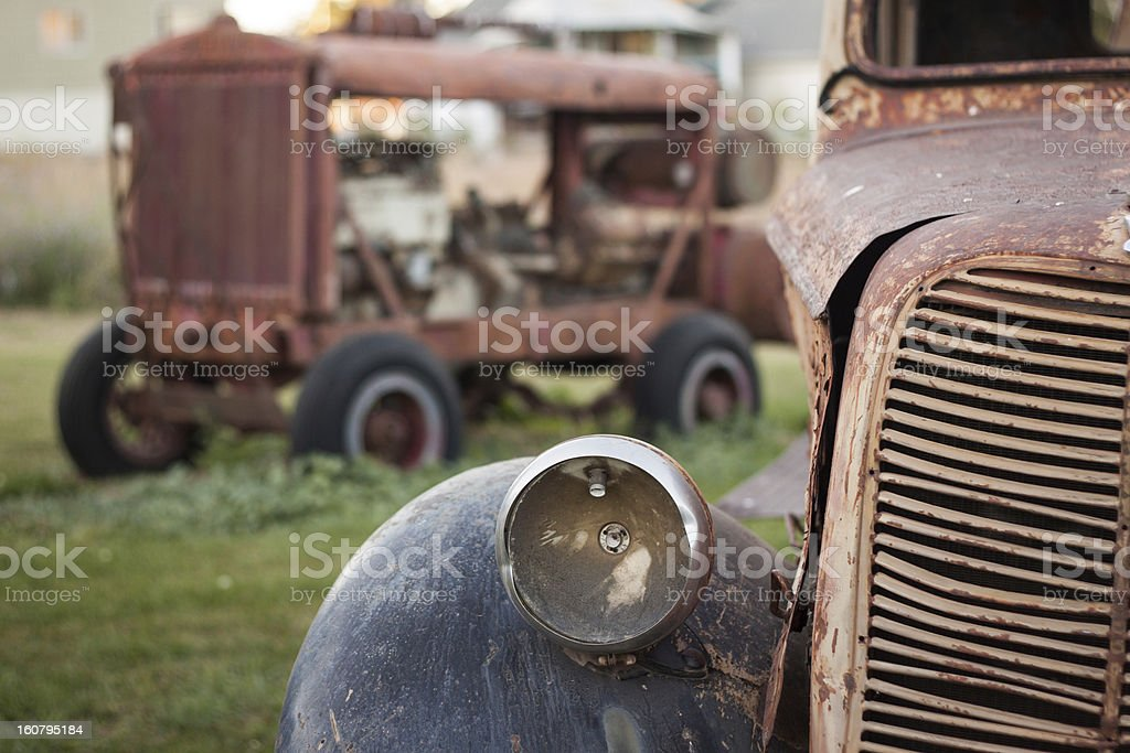 Abandoned Rusty Vintage Car royalty-free stock photo