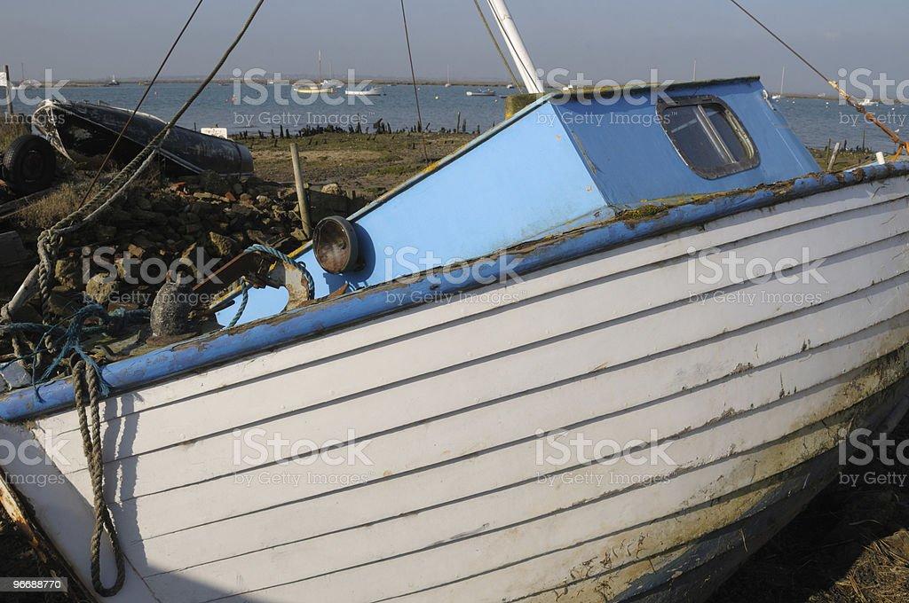 Abandoned sailing boat. royalty-free stock photo