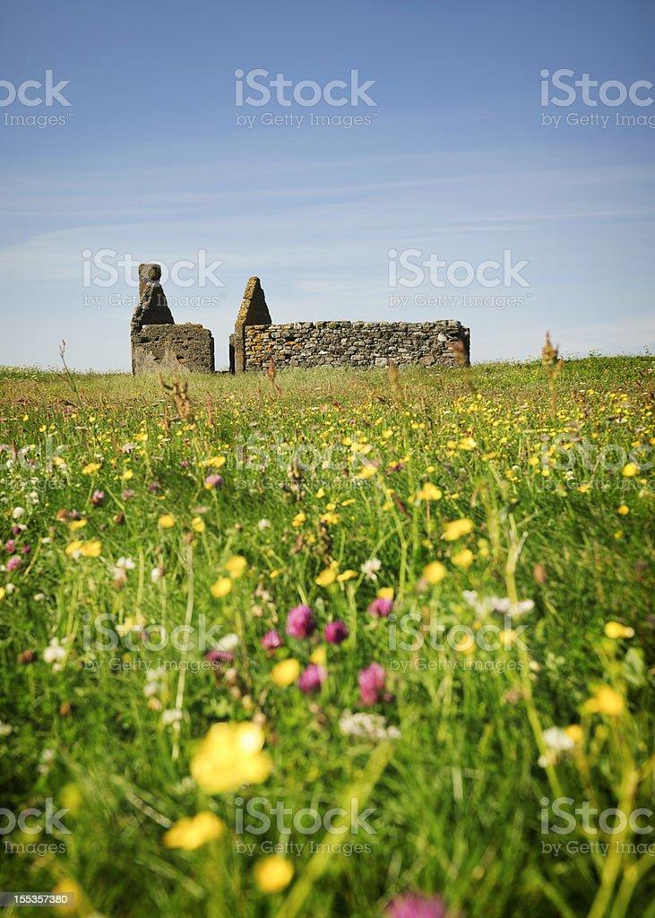 Abandoned Scottish Croft stock photo